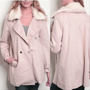BLUSH SUEDE JACKET -PRICE IS FIRM